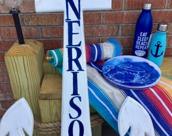 Outer Banks House name sign outdoor anchor mermaid dolphin whale turtle custom beach home family name new homeowner OBX BeachHouseDreamsHome