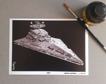 Ship-InkTober 2017-Signed Art Print Limited edition 10 units