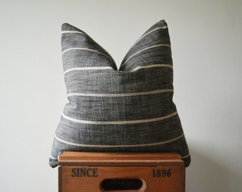 THE SEATTLE 18x18 Stripe Square Pillow Cover