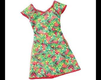 BARBIE Doll Clothing fashion add ons  Garden Party dress
