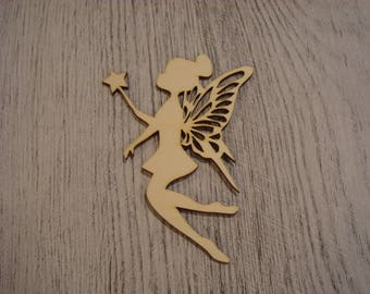 the fairy and her wand ip9 1415 embellishment wood or medium for scrapbooking, custom