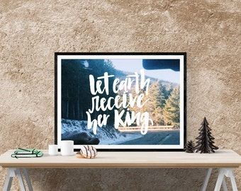 Handlettered christmas quote