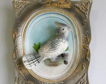 Vintage Ceramic 3D bird wall art