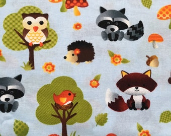 Woodland Friends Fabric - Cotton Fabric  - 50""