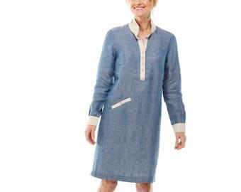 SALE Sunday linen shirt dress