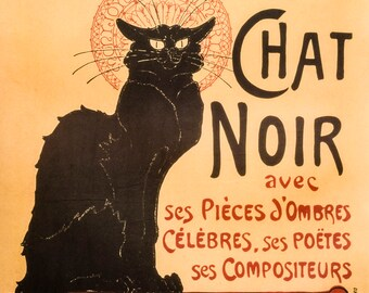 Tour you Chat Noir poster art print retro 50 x 70 cm