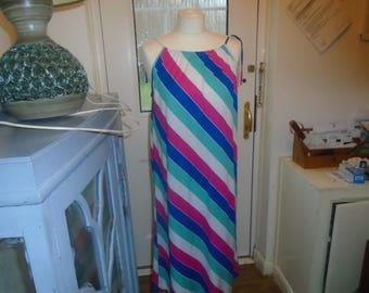 vintage shift dress striped