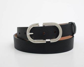 Leather Belt, Black Leather Belt, Black Womens Belt, Womens Belt