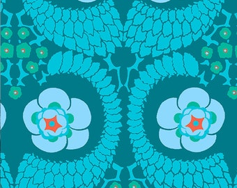 Amy Butler Violette Home Decorator | Yardage | Sateen Cotton | Cut to Size | By the Yard | Green