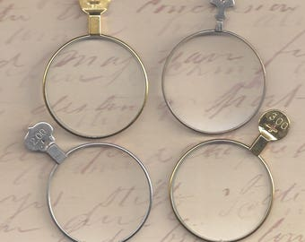4 Trial or Optical Lenses.. steampunk monocle type