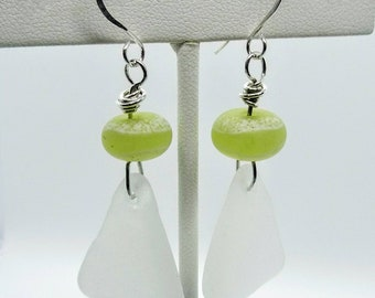 Handmade Lampwork Glass Beads and Sea Glass Earrings - Prima Donna Beads