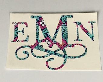 Vine Monogram - Lilly Inspired Monogram - Knot Monogram - Lilly Monogram - Monogram - Vine Monogram