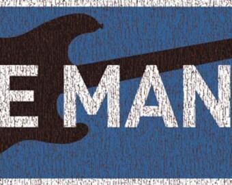 Axe Man Metal Sign, Music, Musician, Guitar   TFD2001