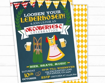 Oktoberfest Invitation, German Party, Oktoberfest Biergarten, Oktoberfest Party, Oktoberfest Invitation, Octoberfest Invitation