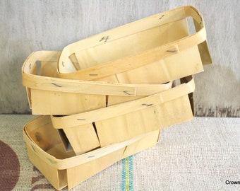 Berry Baskets - Set of Four - Supplies - Rectangular Baskets - Party Favor Baskets