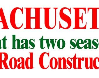 Massachusetts Bumper sticker
