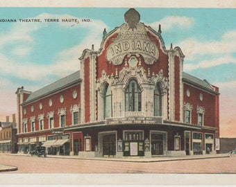 Indiana Theatre Terre Haute Indiana Vintage Postcard