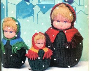 Knit Nesting Dolls Pattern PDF