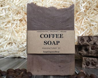 Women gift Coffee soap Coffee lover Craft Soap Office gift Coffee gift Gourmet Organic soap Fragranced soap Homemade Soap Vegan