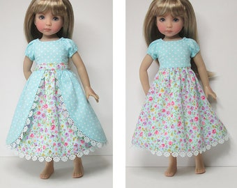 STRAIGHTFORWARD Sewing Pattern SSP-052: Princess outfit for Dianna Effner Little Darlings. Dress, overskirt and petticoat.