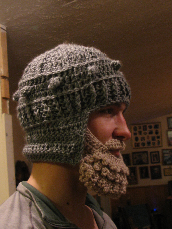 Medieval Helmet/ Manly-Man Beard Crochet Pattern- Teen/Adult from ...