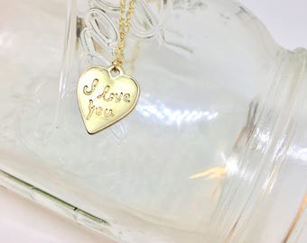 I Love You diffuser necklace