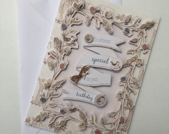 To Someone Special On Your Birthday   Woodland handmade card
