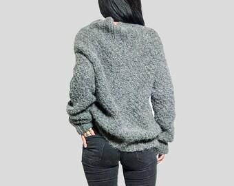 Dress oversized Sweater knit / Alpaca chunky knit sweater/ womens clothing/ gift warm coat/ custom/ personalized/ by sonqo