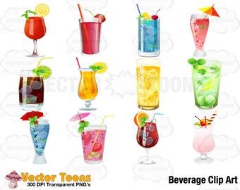 Beverage Clip Art, Digital Clipart, Digital Graphics