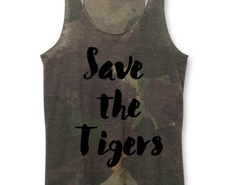 Woman Tank - Save the Tigers Tank Top - came tank for Women - Tiger Tanks, Women's Heather tiger shirts - XS, Small, Medium, Large, XL, 2X