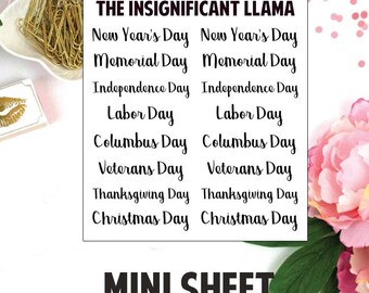 Federal Holiday - Holiday - Planner Stickers