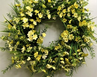 Yellow Spring Mix Wreath