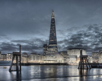 London Shard And Two Piers
