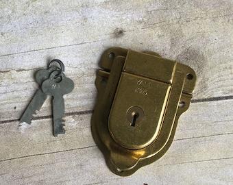 Vintage Yale Lock and Key - Gold Lock - USA