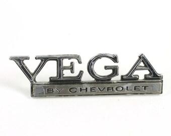 Chevrolet Vega Car Emblem 1970s Vintage