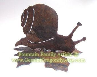 Garden Snail Rusty Metal Yard Art Recycled