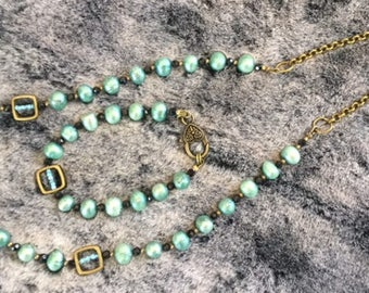 Turquoise Freshwater Pearl Set