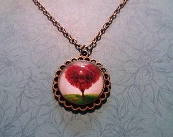 Red tree pendant
