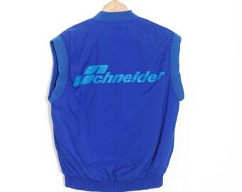 Vintage ski vest   Retro Sleeveless Jacket   Schneider Ski Vest   Retro nylon ski jacket   Schneider 90s ski