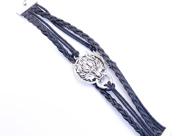 Inspirational Infinity Wolf Rope Bracelet