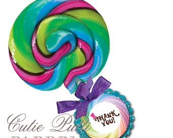 """Willy Wonka Party Favor Tags 2""""x 2"""" by Cutie Putti Paperie"""