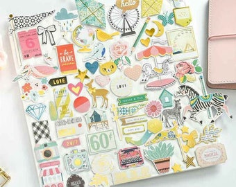 Set of 70 cute stickers.