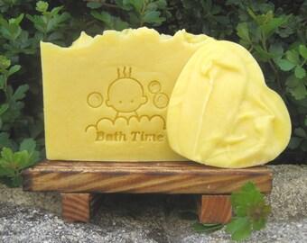 Organic Baby Soap, vegan soap, Cream Soap, Sensitive Skin Soap, lavender shea butter soap, gentle soap, expecting mom gift, shower gift