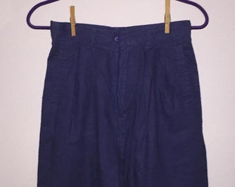 Vintage Navy High Waisted Shorts / size 10 (fits like 2) / by David Hollis