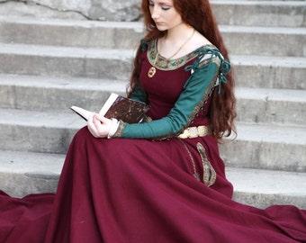 "Medieval Wool Dress ""Sansa"" limited custom dress; medieval dress; ren dress; wool dress; winter dress"