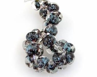 12 pieces 13mm Lampwork Glass Blue Teardrop Beads