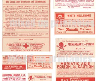 Mixed Up Printables - Poison Pharmacy Labels