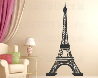 Eiffel Tower Vinyl Wall Decal - Home Decor - Nursery Wall Decals - Paris Decal - French Theme - Baby Nursery Wall Art - 8ft