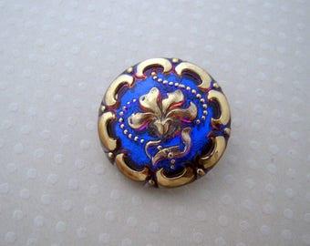27 mm - B27 0331 flower Czech glass button