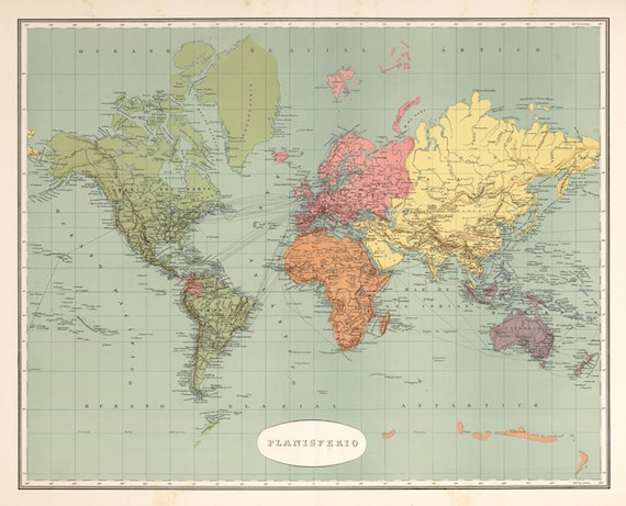 World map printable digital downloadntage world map old world vintage world map old world map vintage art image instant digital downloadintable mapp digital from antiquedigitalprint on etsy studio gumiabroncs